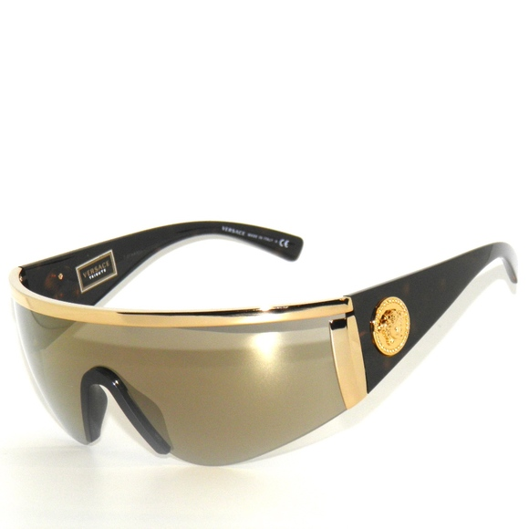 1f1a1a9725c VERSACE 2197 1000 5A GOLD BROWN MIRROR SUNGLASSES